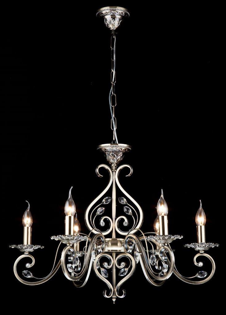 Люстра MaytoniЛюстры<br>Назначение светильника: для гостиной, Стиль светильника: классика, Тип: подвесная, Материал светильника: металл, стекло, Материал арматуры: металл, Диаметр: 690, Высота: 596, Количество ламп: 6, Тип лампы: накаливания, Мощность: 60, Патрон: Е14, Цвет арматуры: бронза, Родина бренда: Германия, Коллекция: h109<br>