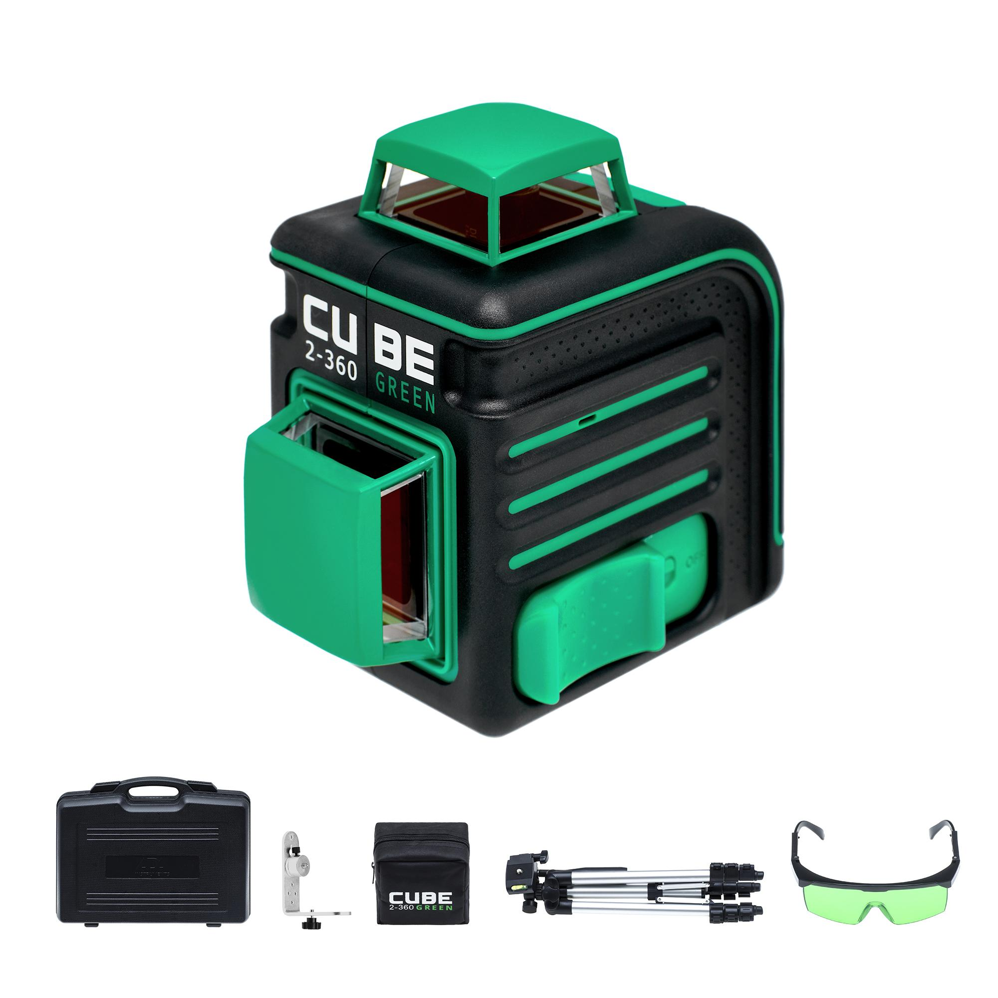 Уровень Ada Cube 2-360 green ultimate edition лазерный уровень ada cube 360 home edition