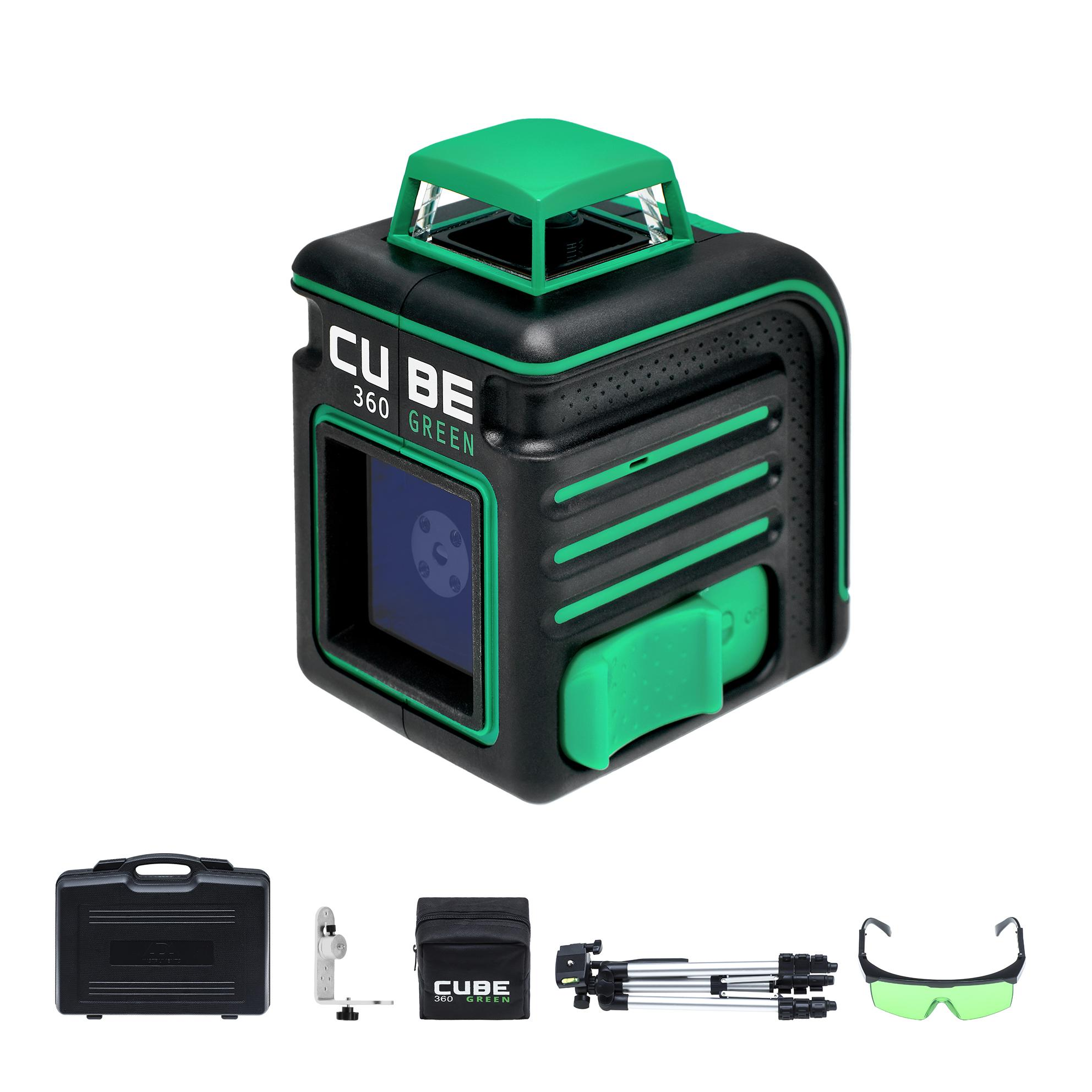 Уровень Ada Cube 360 green ultimate edition лазерный уровень ada cube 360 home edition