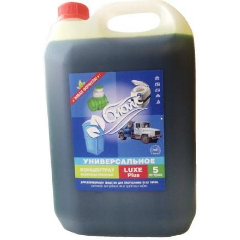 Жидкость БИОwc Luxe plus 5л жидкость для биотуалета thetford aqua rinse plus в верхний бак розовая объём 1 5л