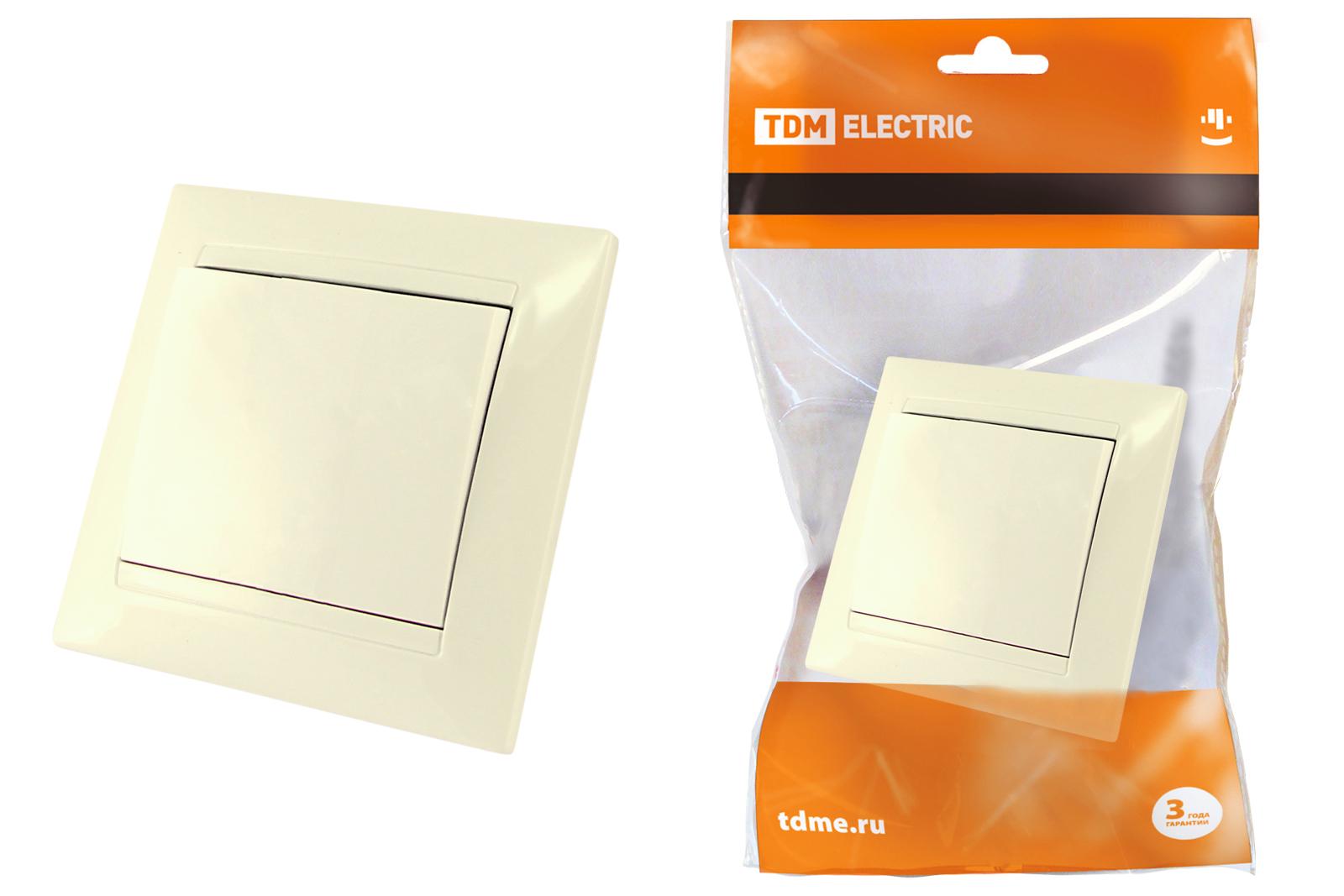 Выключатель Tdm Sq1815-0101 выключатель двухклавишный наружный бежевый 10а quteo