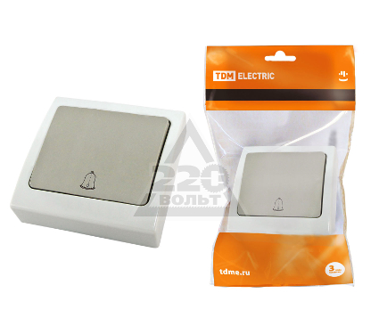 Кнопка для звонка TDM SQ1803-0106
