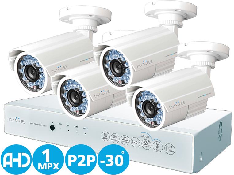 Комплект видеонаблюдения Ivue D5004 ahc-b4 видеонаблюдение ivue ahd 1 mpx дача 4 4 ivue d5004 ahc b4