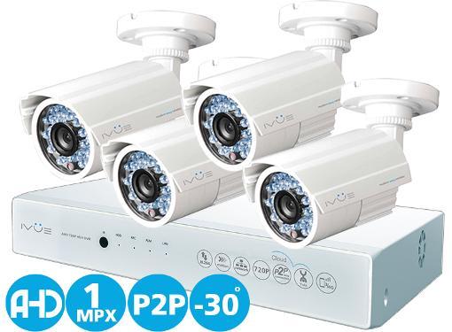 Комплект видеонаблюдения на 4 камеры для улицы IVUE D5004 AHC-B4