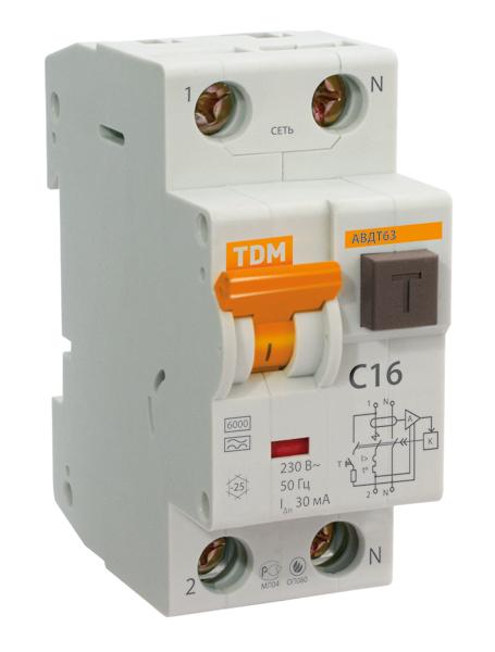 Автомат Tdm Sq0202-0016 ад12 tdm sq0204 0016 дифференциальный автомат