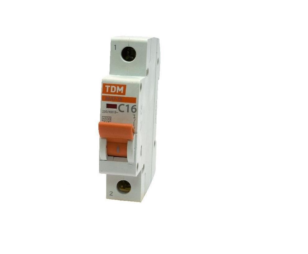 Автомат Tdm Sq0206-0009 сигнальная лампа зеленая tdm лс 47 led ac dc sq0214 0009