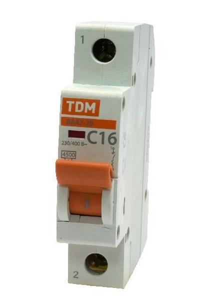 Автомат Tdm Sq0206-0073 светодиодная лента tdm electric smd5050 60 54 12 144 ye ip54 yellow sq0331 0073