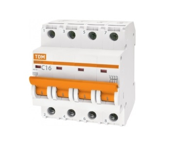 Автомат Tdm Sq0206-0180 розетка tdm sq1804 0113