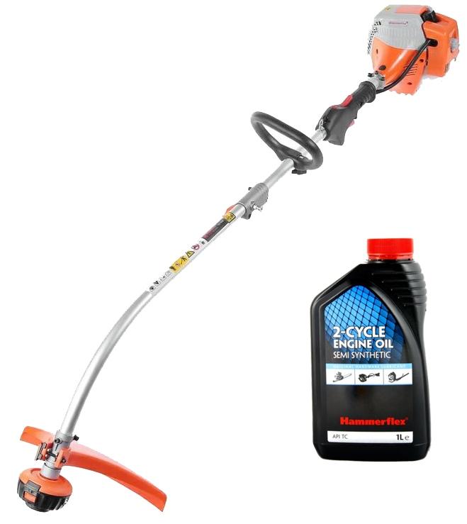 Набор: Мотокоса Hammer Мотокоса mtk25b+ Масло 1л 2ткт п/синт. триммер бензиновый hammer flex mtk25b неразборная штанга [277343]