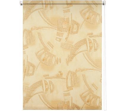 Рулонная штора УЮТ 140х175 Петра песочный