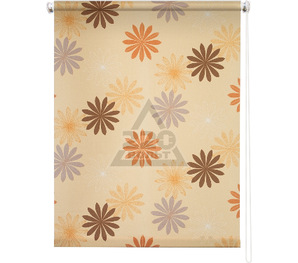 Рулонная штора УЮТ 40х175 Космея оранжевый