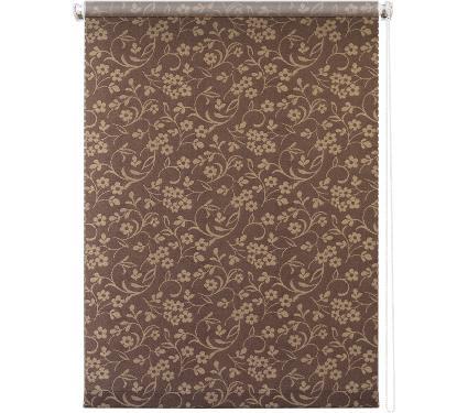 Рулонная штора УЮТ 140х175 Моравия коричневый