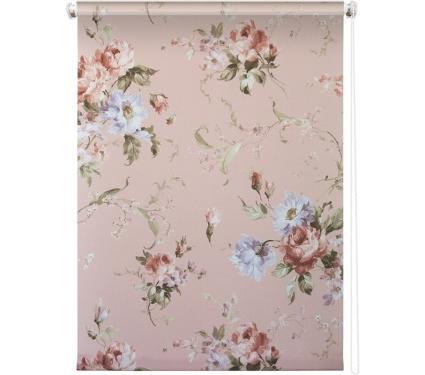 Рулонная штора УЮТ 60х175 Розарий розовый