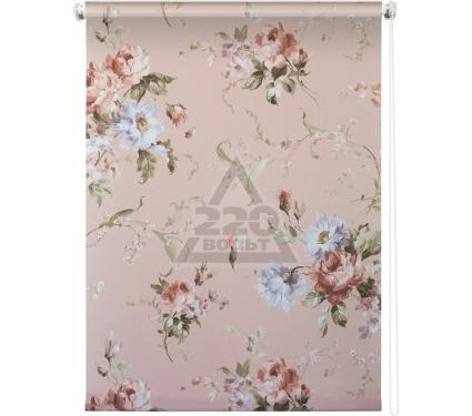 Рулонная штора УЮТ 90х175 Розарий розовый