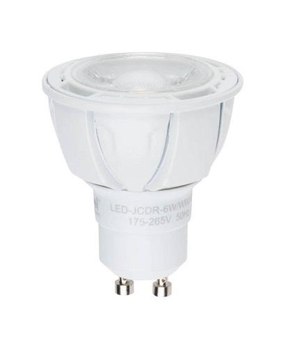 Лампа светодиодная Uniel Led-jcdr-6w/nw/gu10/fr/38d alp01wh 10шт лампа светодиодная 07912 gu5 3 5w 3000k jcdr матовая led jcdr 5w ww gu5 3 fr alp01wh