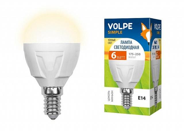 Лампа светодиодная Volpe Led-g45-6w/ww/e14/fr/s 10шт лампа светодиодная volpe led g45 6w nw e14 fr s 10шт
