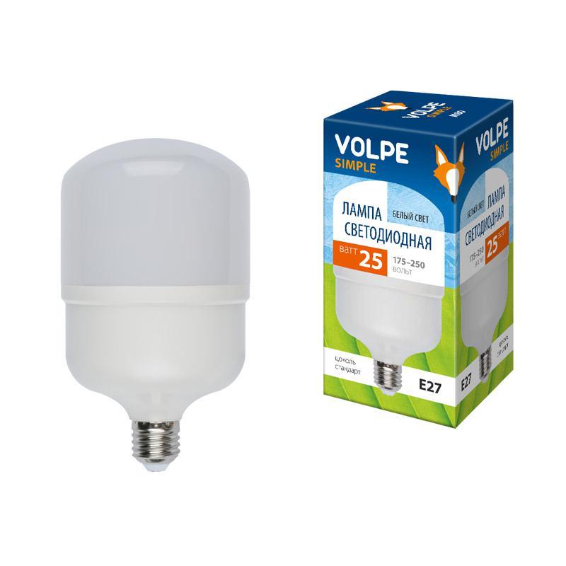 Лампа светодиодная Volpe Led-m80-25w/nw/e27/fr/s радиоприемник 25 hifi 25w