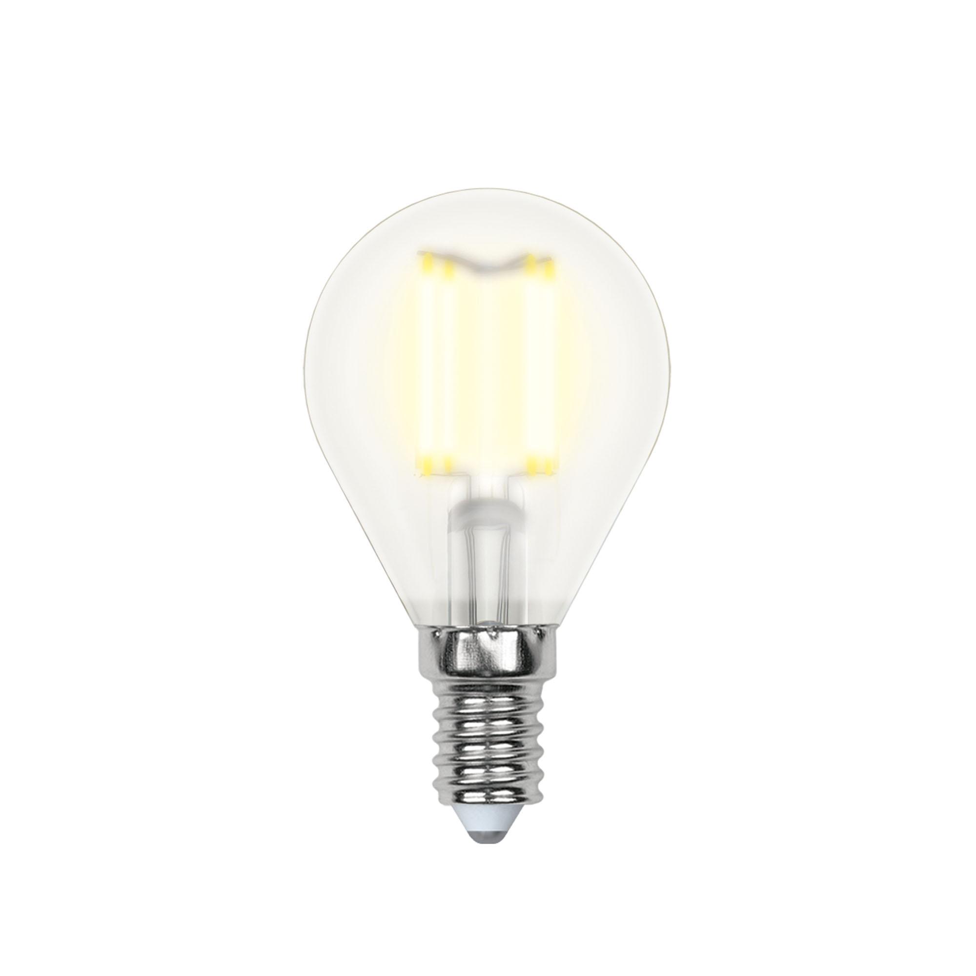 Лампа светодиодная Uniel Led-g45-6w/ww/e14/fr pls02wh 10шт uniel лампа светодиодная 08137 e14 6w 3000k свеча на ветру матовая led cw37 6w ww e14 fr alm01wh