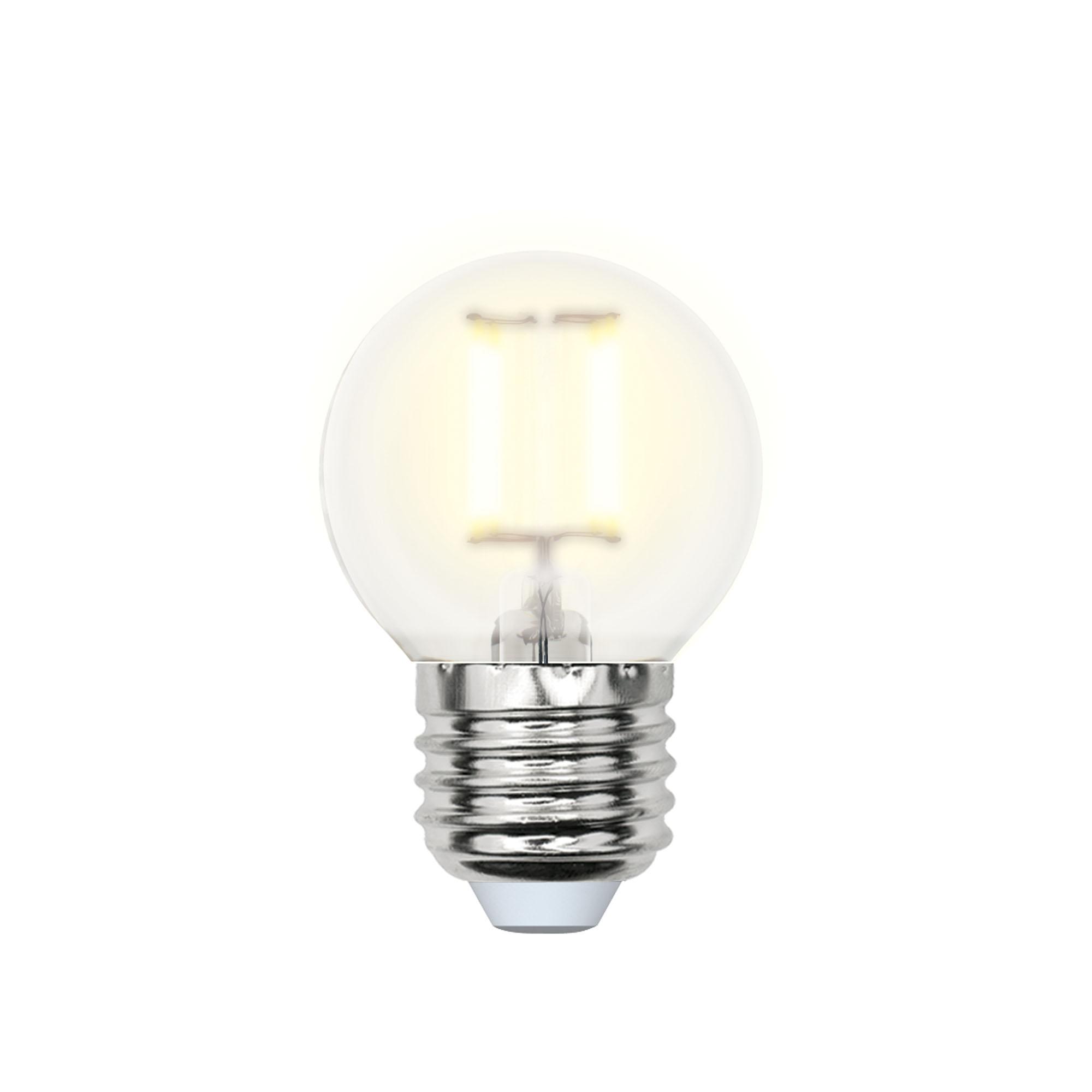 Лампа светодиодная Uniel Led-g45-6w/ww/e27/fr pls02wh 10шт лампа светодиодная uniel led c35 6w ww e14 fr pls02wh 10шт