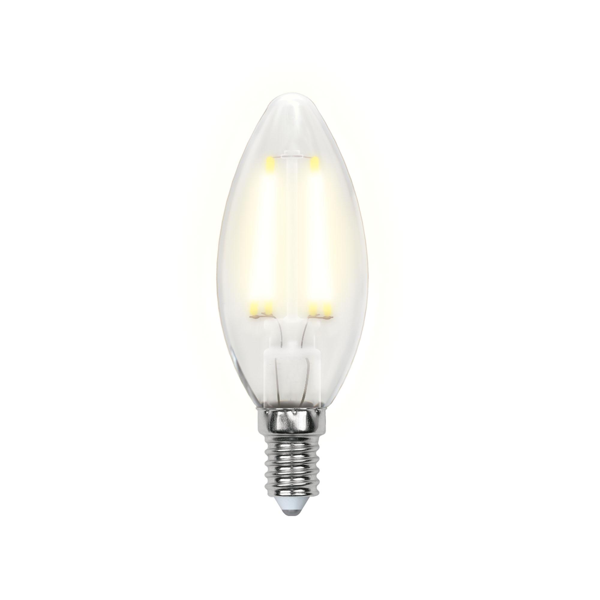 Лампа светодиодная Uniel Led-c35-6w/ww/e14/fr pls02wh 10шт uniel лампа светодиодная 08137 e14 6w 3000k свеча на ветру матовая led cw37 6w ww e14 fr alm01wh