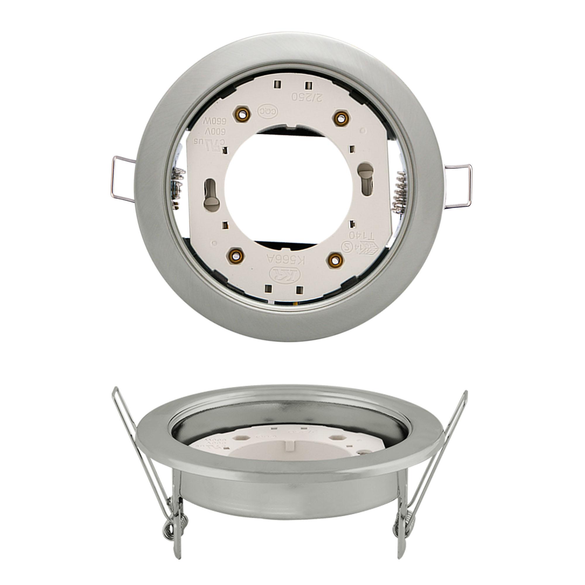 Светильник встраиваемый Uniel Gx53/h4 silver 10 prom