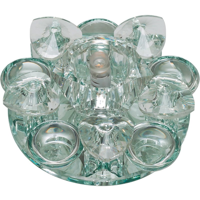 Светильник встраиваемый Fametto Dls-f123 g4 glassy/clear наклейки для ногтей hot dls 4 dls hd4