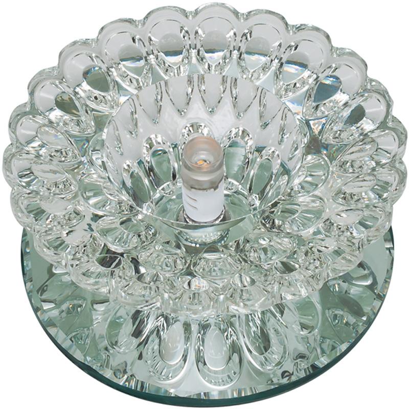 Светильник встраиваемый Fametto Dls-f124 g4 glassy/clear наклейки для ногтей hot dls 4 dls hd4