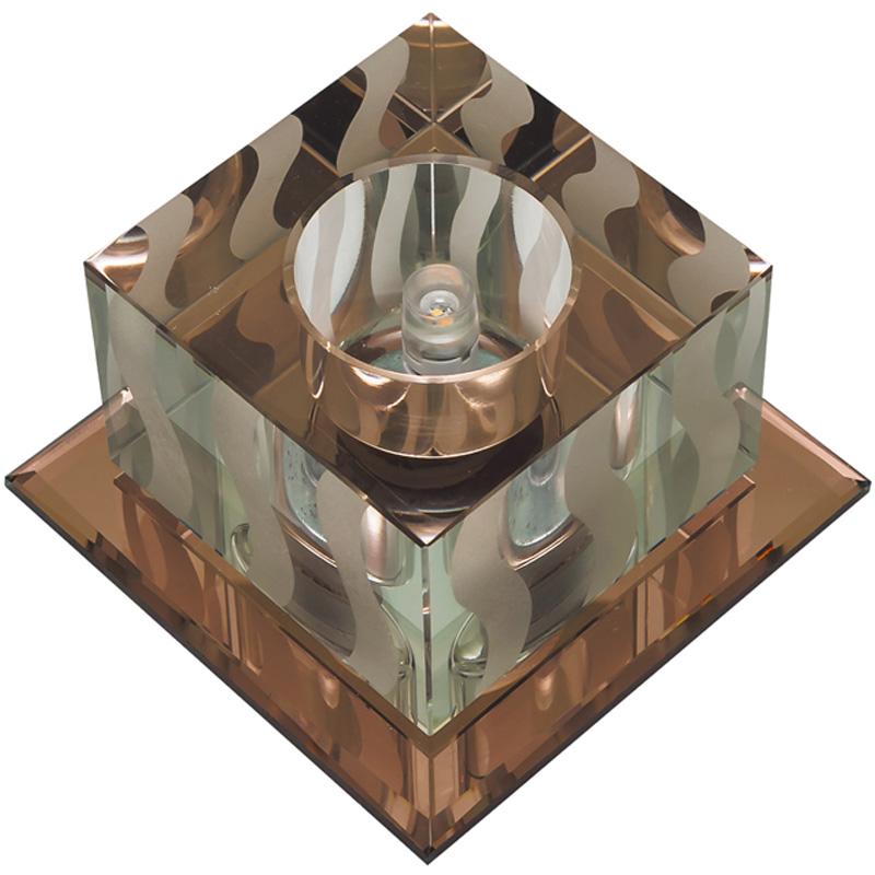 Светильник встраиваемый Fametto Dls-f126 g4 tea/clear наклейки для ногтей hot dls 4 dls hd4