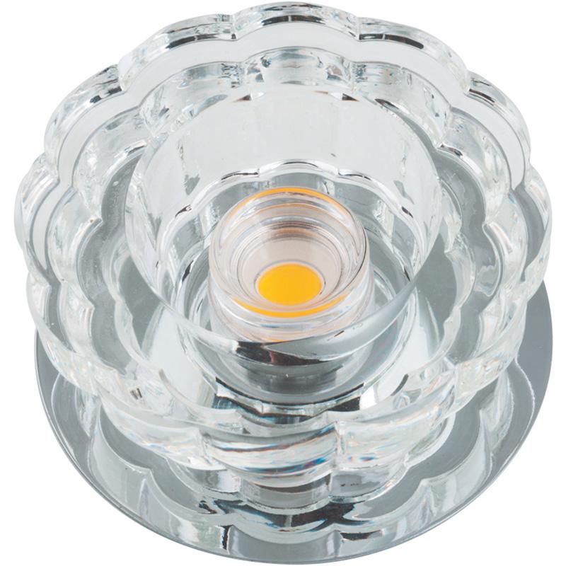Светильник встраиваемый Fametto Dls-f301 10w chrome/clear dls w308b