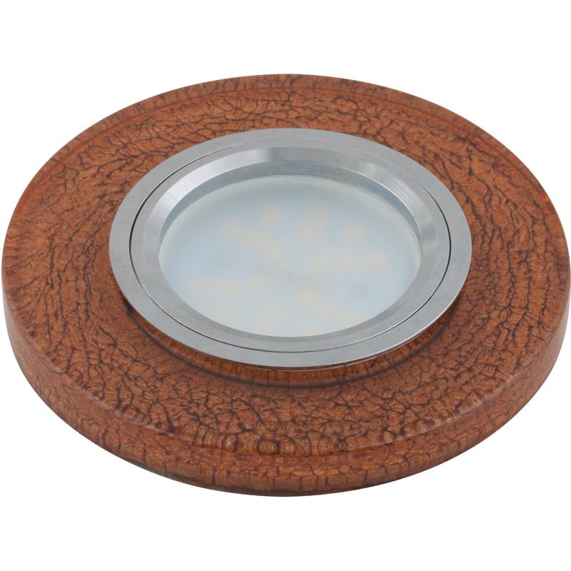 Светильник встраиваемый Fametto Dls-l104 gu5.3 chrome/brown dls w308b