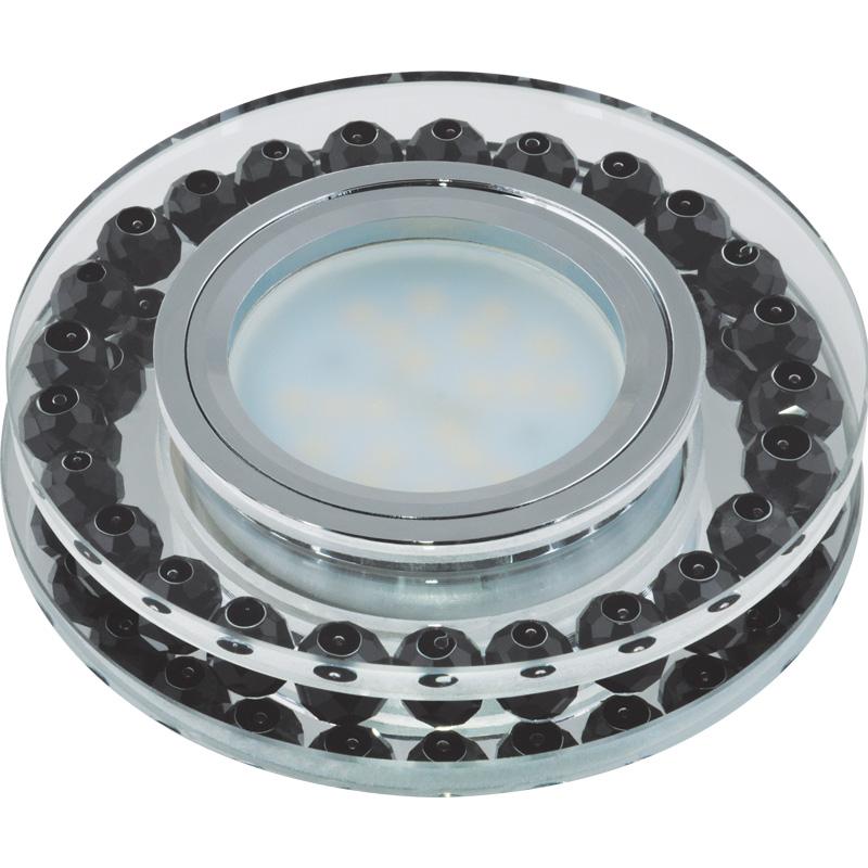 Светильник встраиваемый Fametto Dls-p102 gu5.3 chrome/black dls w310d