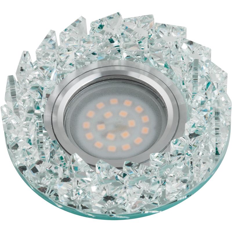 Светильник встраиваемый Fametto Dls-p108 gu5.3 chrome/clear dls w308b