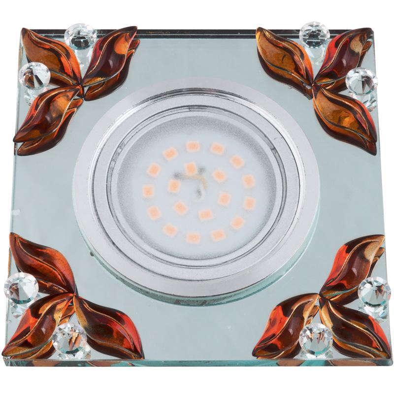 Светильник встраиваемый Fametto Dls-p109 gu5.3 chrome/clear+tea