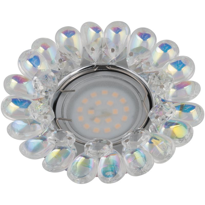 Светильник встраиваемый Fametto Dls-p119 gu5.3 chrome/rainbow dls w308b