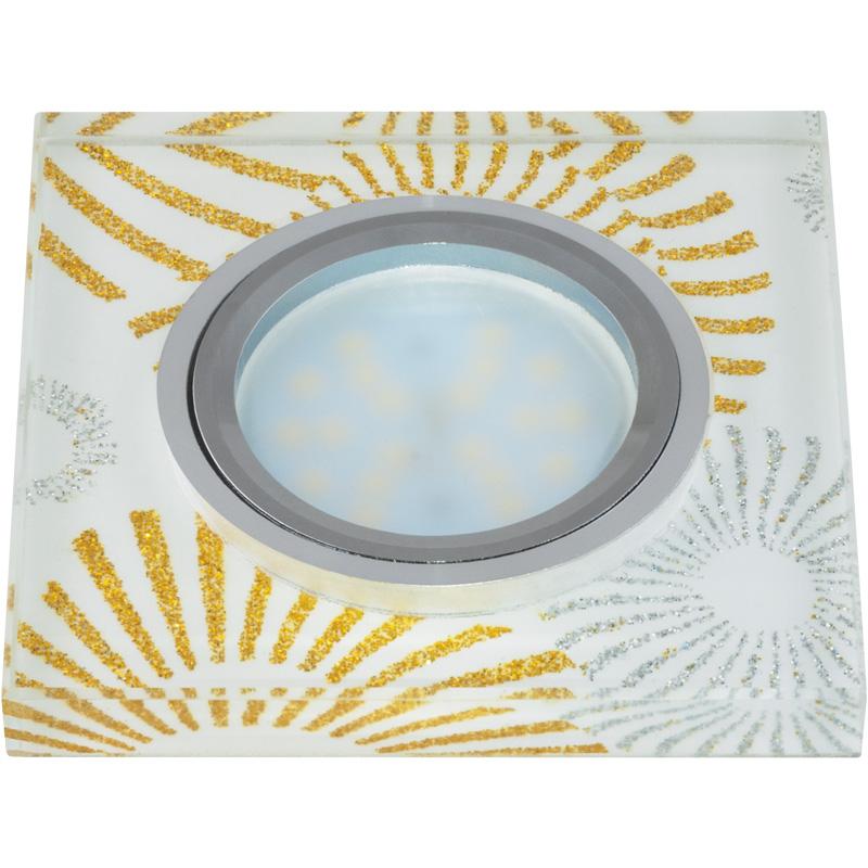 Светильник встраиваемый Fametto Dls-p201 gu5.3 chrome/white