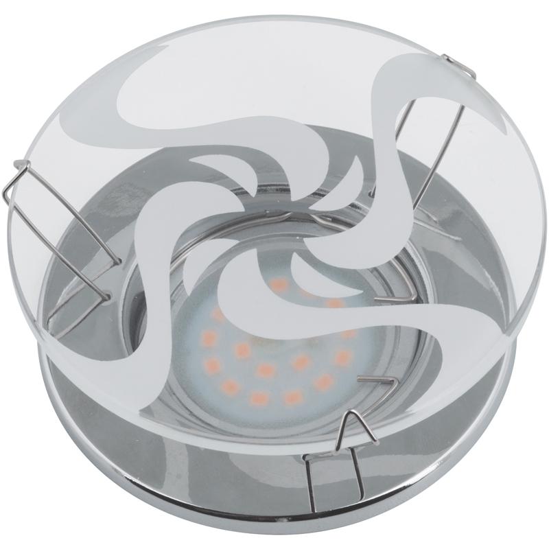 Светильник встраиваемый Fametto Dls-s201 gu5.3 chrome/white вакуумный контейнер для еды friday с двойными стенками 15 2х15 2х20 2см 1 2л цвет красный материал внутренний s s304 s s201 бакелит 1249708
