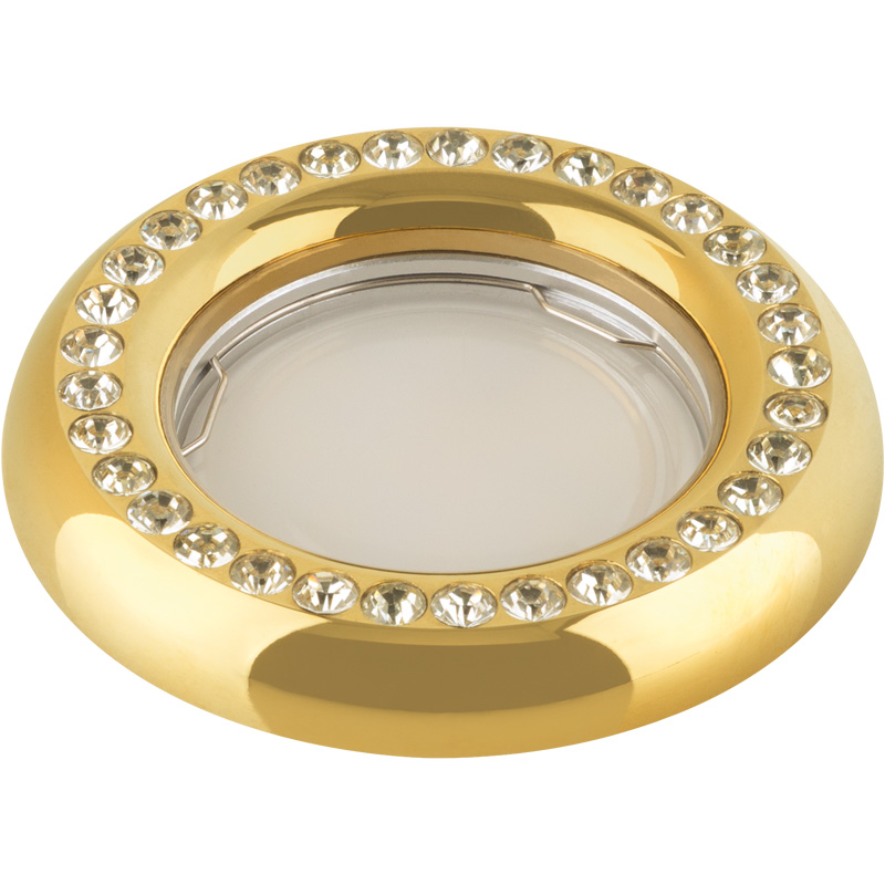 Светильник встраиваемый Fametto Dls-v101 gu5.3 gold цены онлайн