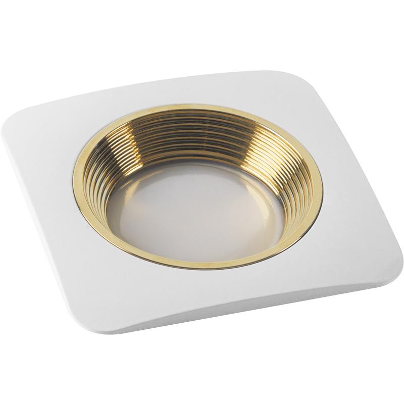 Светильник встраиваемый Fametto Dls-v102 gu5.3 white+gold donolux светильник встраиваемый sn1583 white gold stripe
