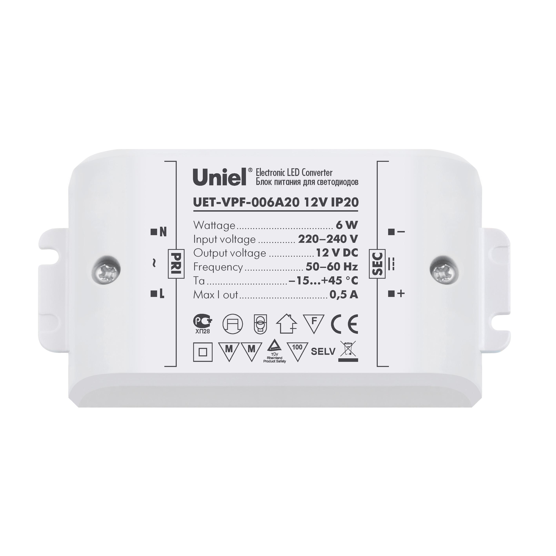 Блок питания Uniel Uet-vpf-006a20 кабель питания tripp lite p036 006 p036 006