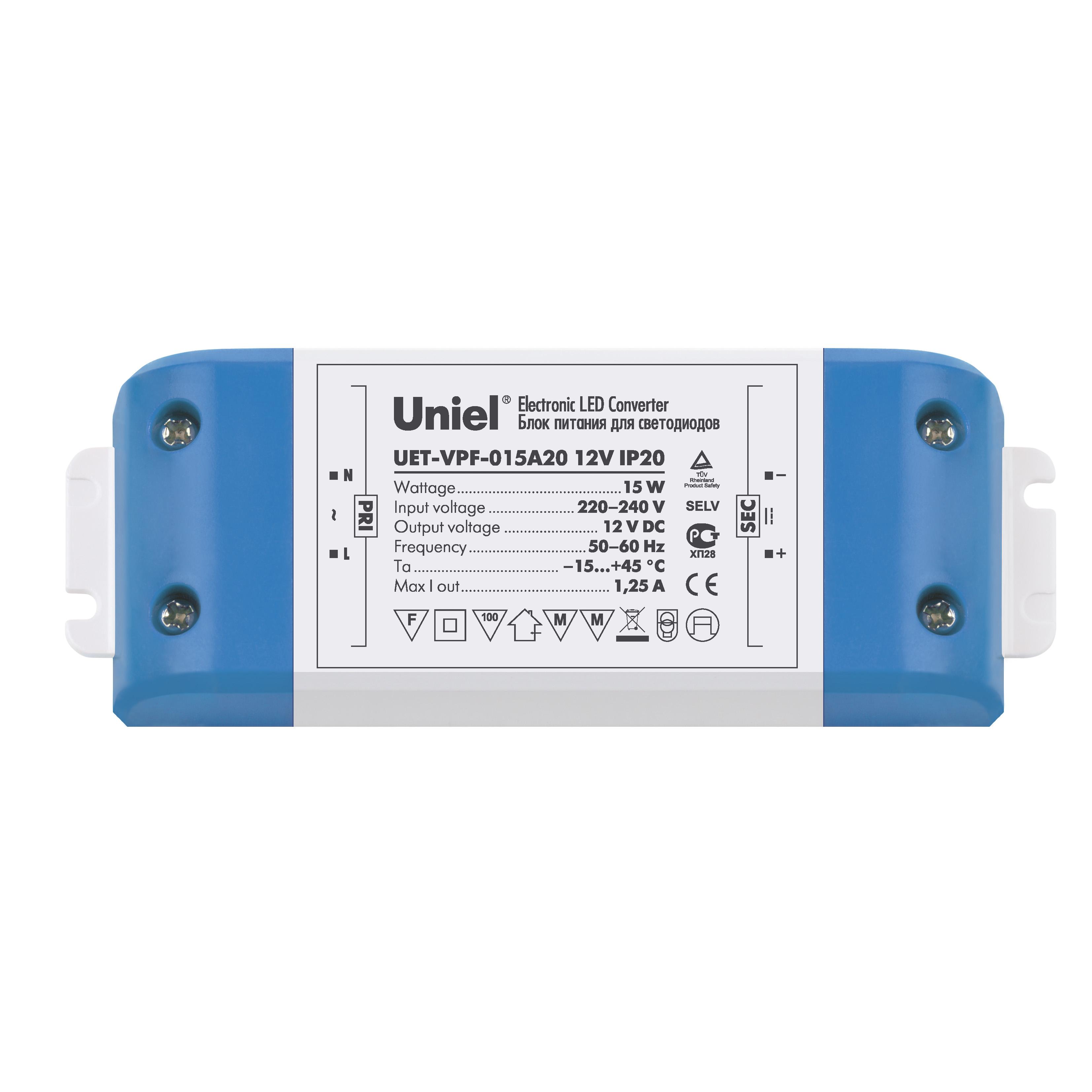Блок питания Uniel Uet-vpf-015a20