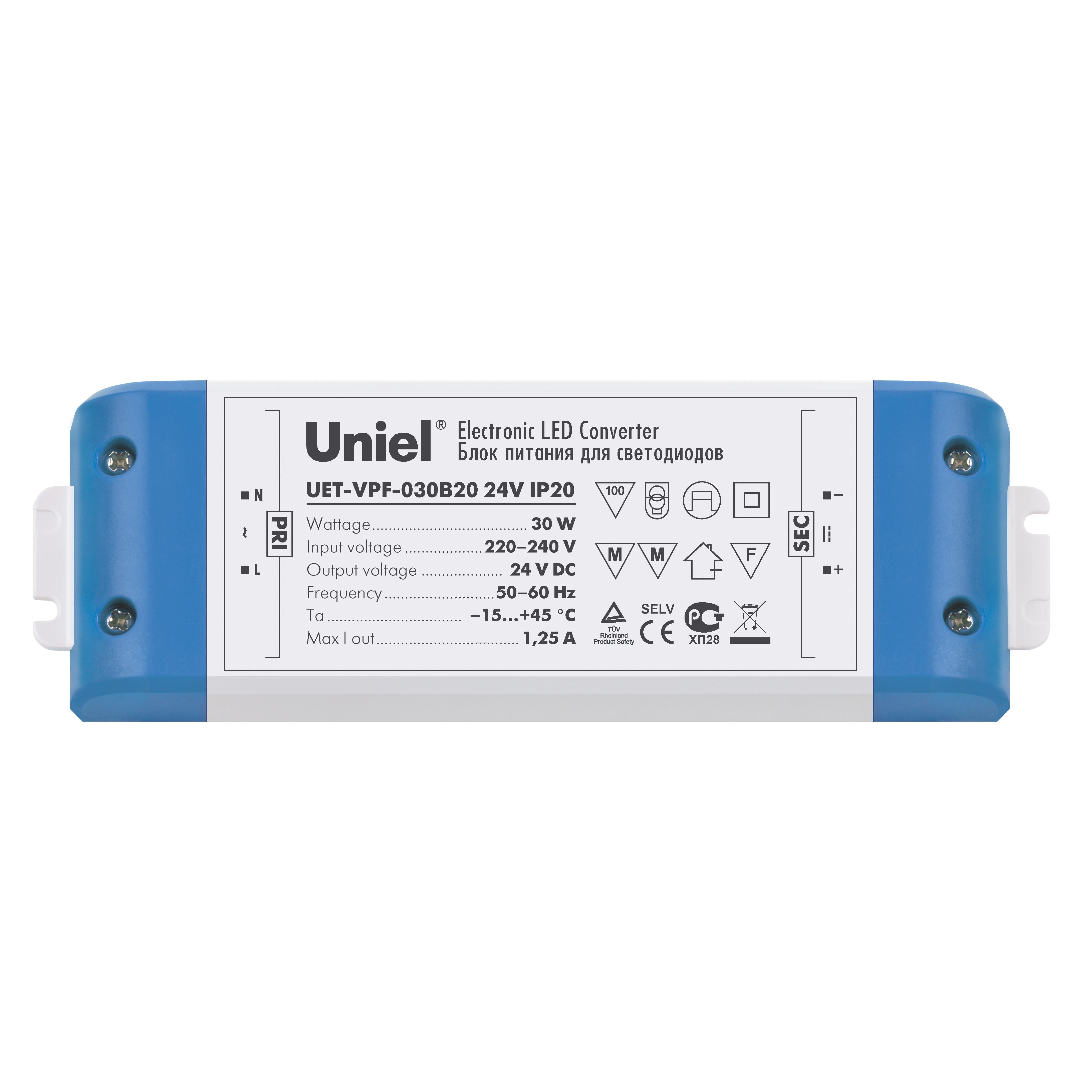 Блок питания Uniel Uet-vpf-030b20