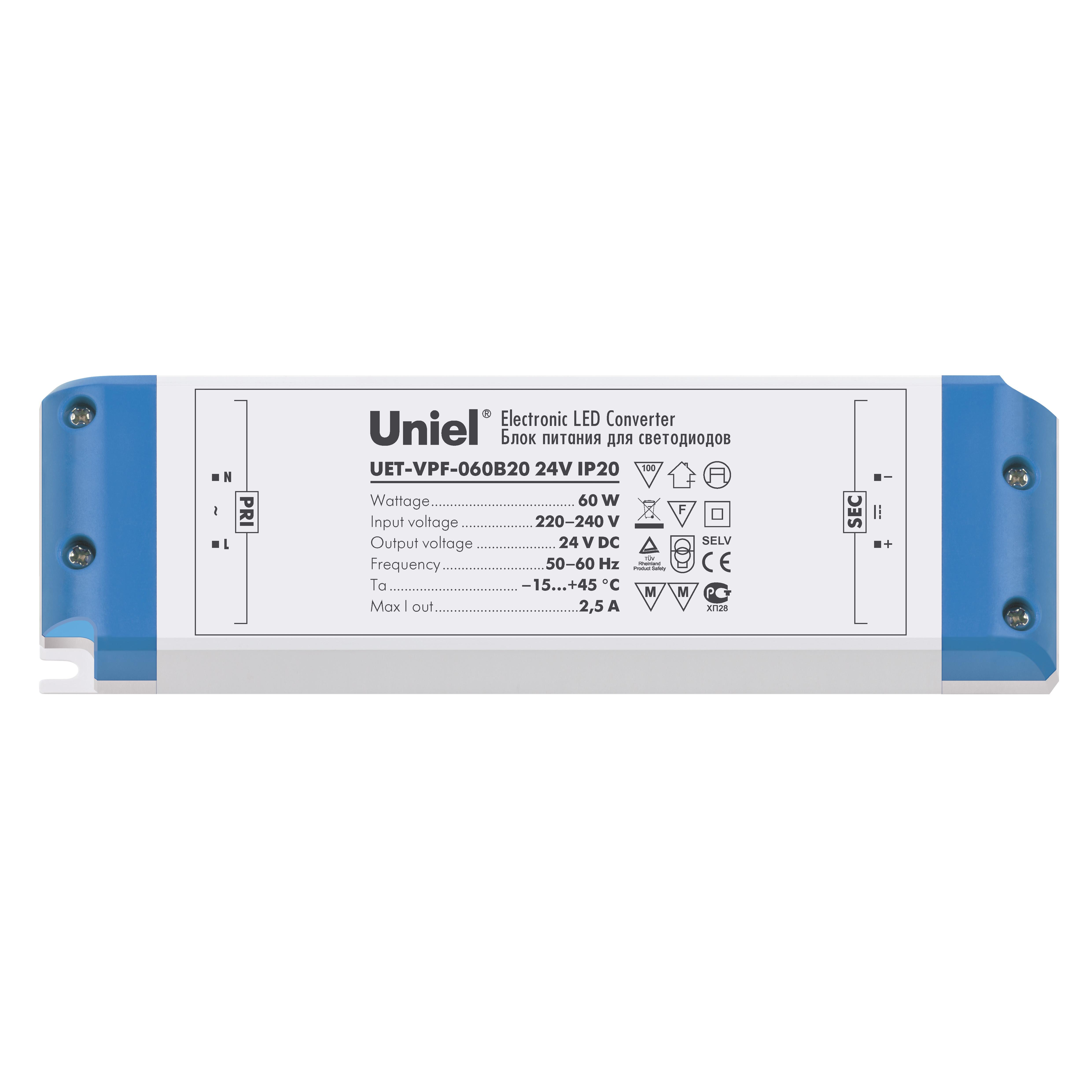 Блок питания Uniel Uet-vpf-060b20 блок питания swgroup 100w 24v
