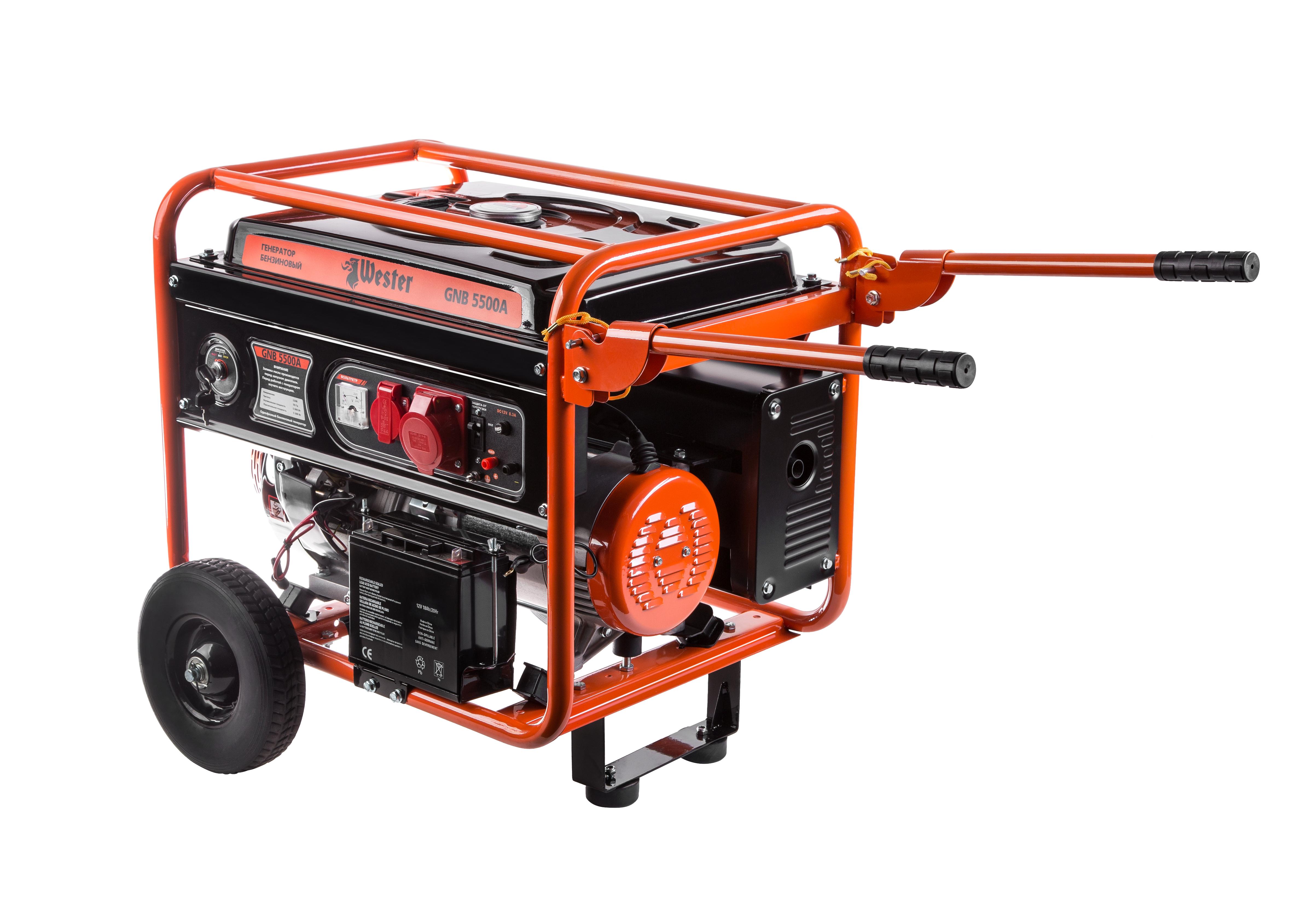 Бензиновый генератор Wester Gnb5500a opp1820