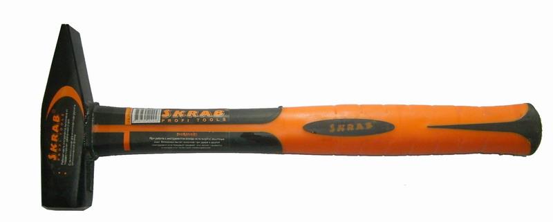 Молоток слесарный Skrab 20245  500 г, фибро ручка skrab 41810