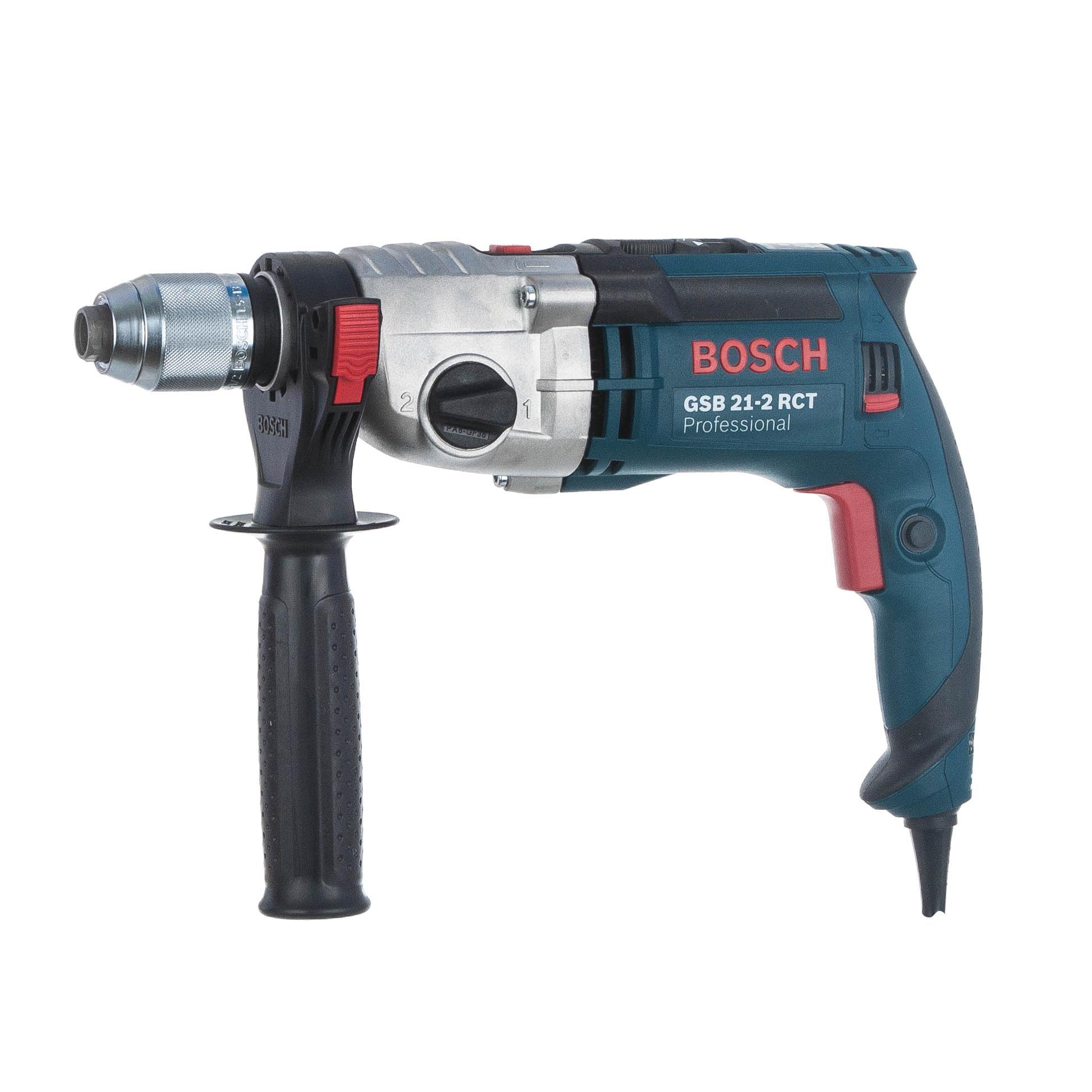 Дрель ударная Bosch Gsb 21-2 rct (0.601.19c.700) набор bosch дрель аккумуляторная gsb 18 v ec 0 601 9e9 100 адаптер gaa 18v 24