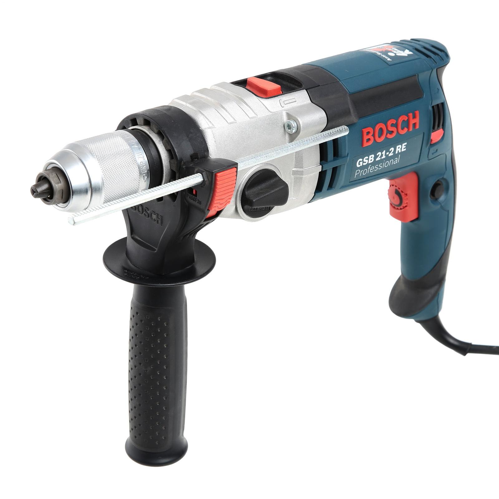Дрель ударная Bosch Gsb 21-2 re (0.601.19c.500) bosch gsb 21 2 re звп professional