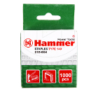 Скобы для степлера HAMMER Скобы 10мм, 10мм, 1,2 мм П-образные (тип   140), 1000шт