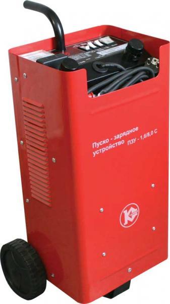 Устройство пуско-зарядное КАЛИБР ПЗУ-1,6/8,0С аккумуляторы для автомобиля 90 ампер