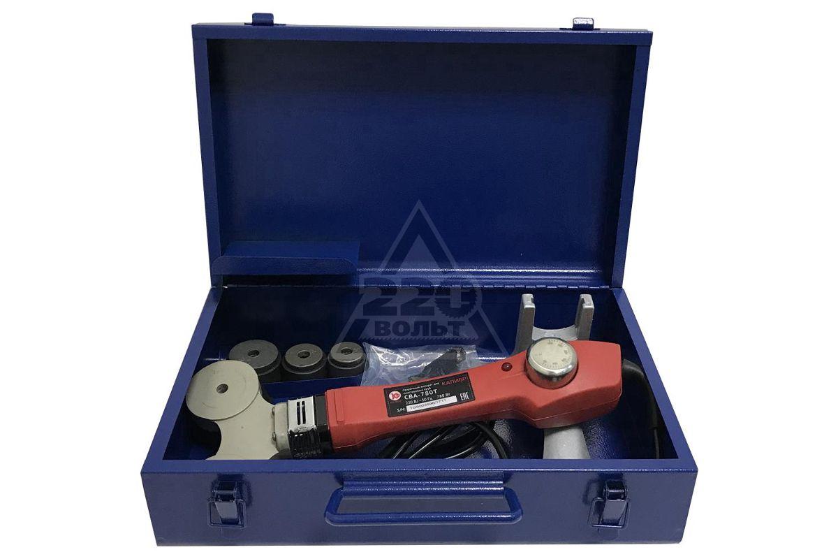 ручной аппарат для сварки пластиковых труб и фитингов КАЛИБР СВА-780Т