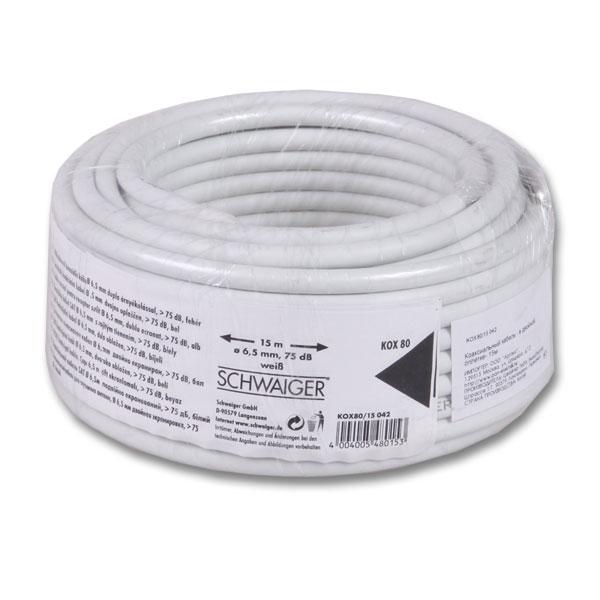 Кабель Schwaiger 23074 8 15м кабель tv 6 5мм sat 15м schwaiger kox80 15